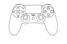 Image result for videogame. Controller clipart playstation 4 controller clipart black and white library