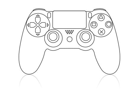 Drawing at getdrawings com. Controller clipart playstation 4 controller graphic black and white stock