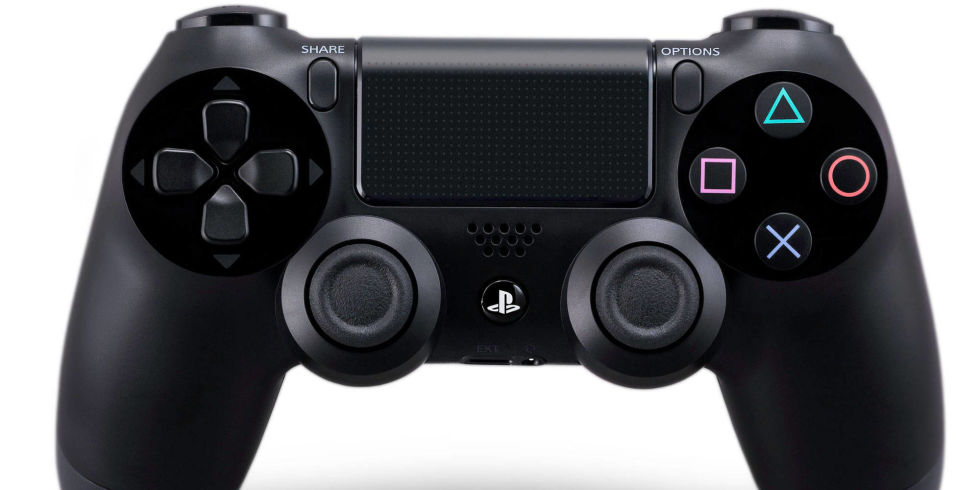 The dualshock now works. Controller clipart playstation 4 controller svg black and white stock
