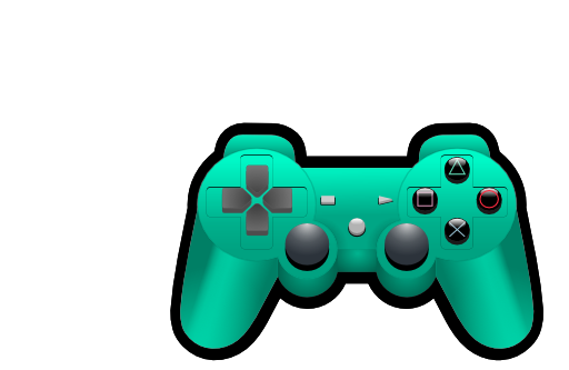 Controller clipart royalty free. Color playstation i iclipart