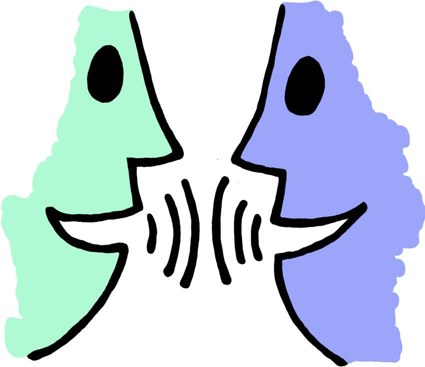 Conversation clipart partner share. How to tell your