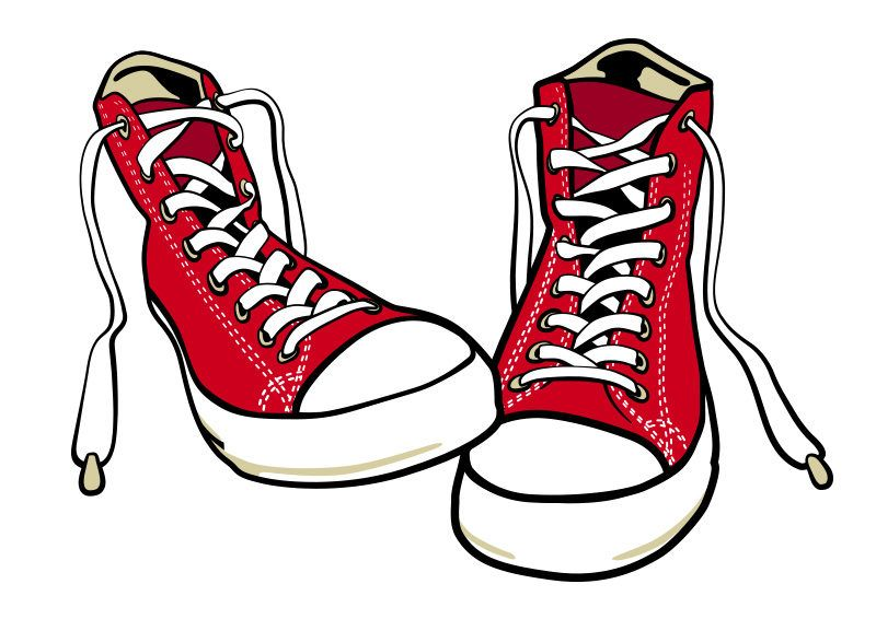 Converse clipart sport shoe. Shoes free vector http