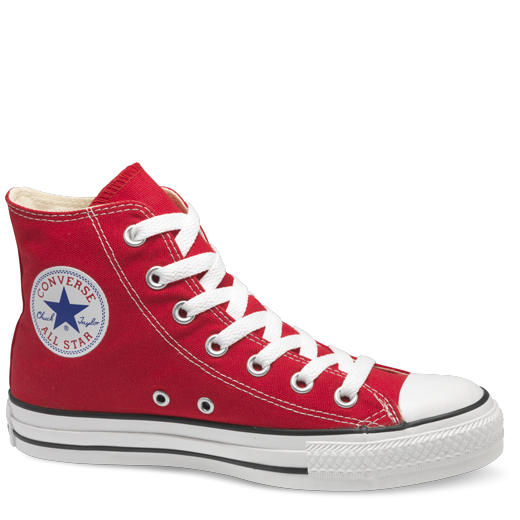 Converse shoe png. All star hi red
