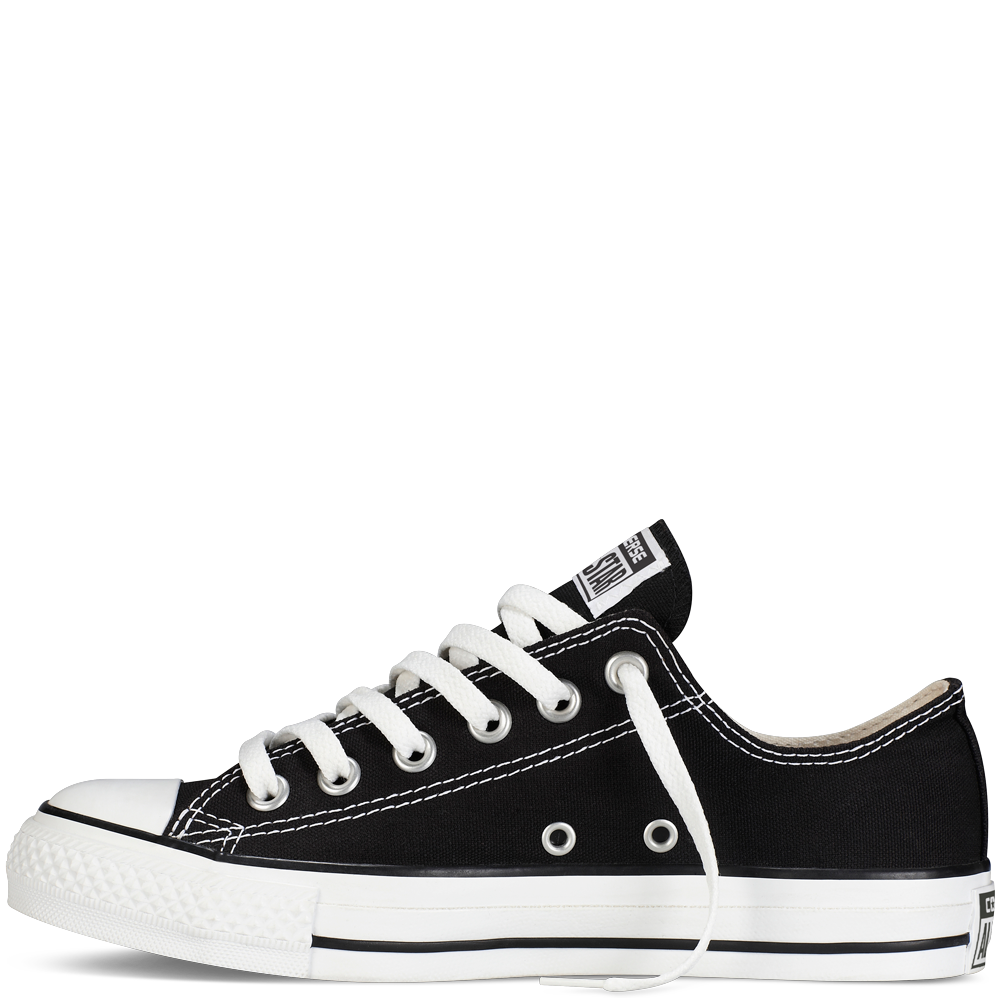 Converse shoes png. Black white low top