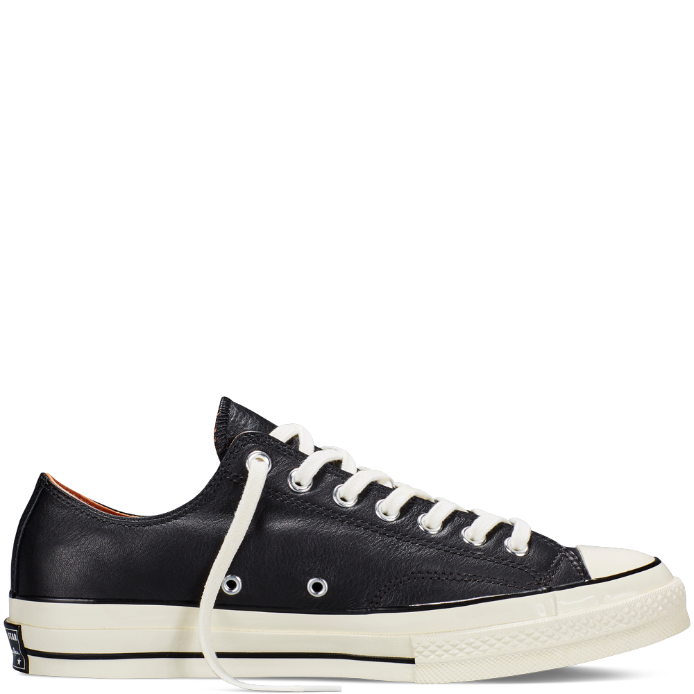 Converse transparent 70 leather. Outstanding tops black white