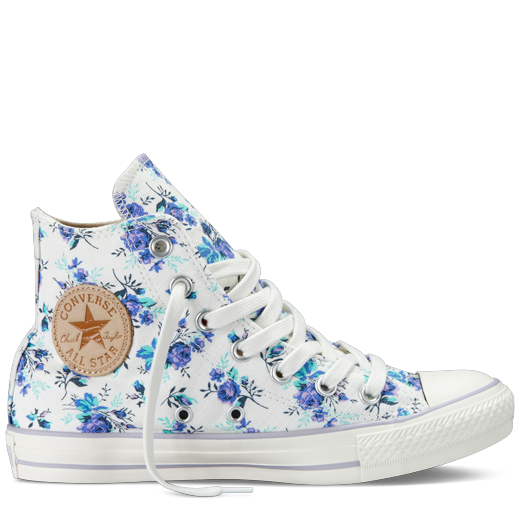 Converse transparent outfit. Flower inspired shoes for