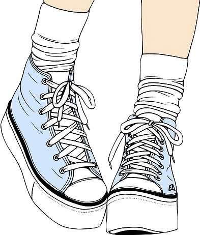 Converse transparent png tumblr. Sneakers clipart library