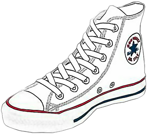Converse transparent tumblr sticker. Stickers shoes by soth