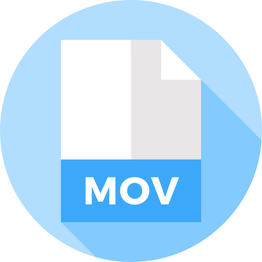 Convert a gif to a png. Your mov file now