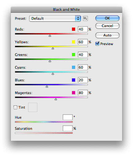 Convert color png to black and white. How prepare images for