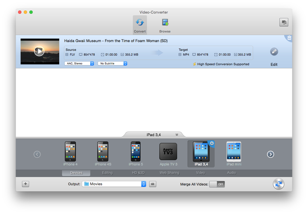 Convert png to movie. Formats and conversion the