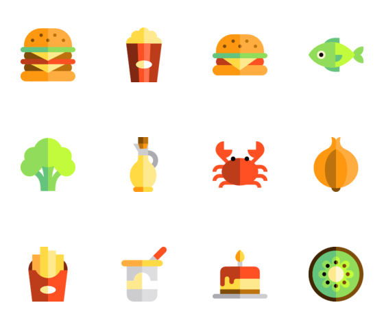 Vector set food. Free icons svg psd