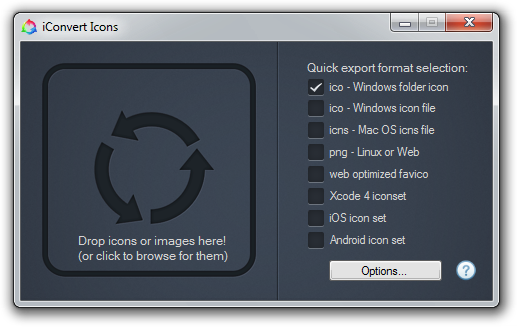 Windows create icon from png. Convert icons make favicon