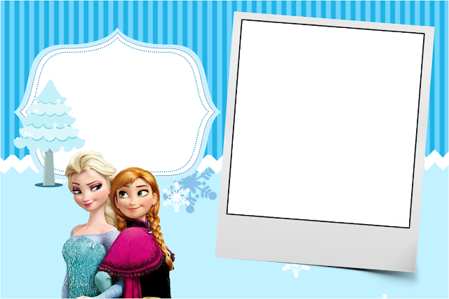 Convite frozen png. Christmas in blue free