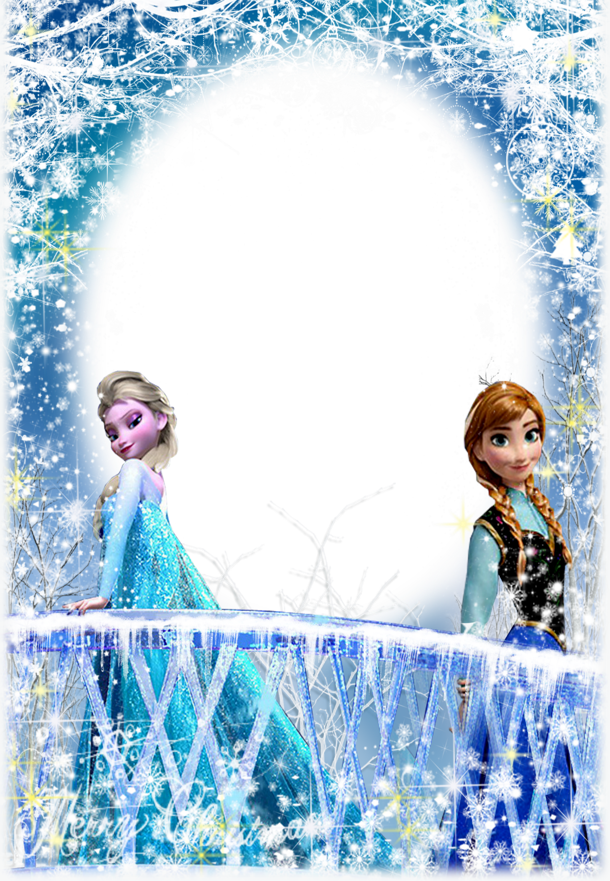 Convite frozen png. Photo effect from category