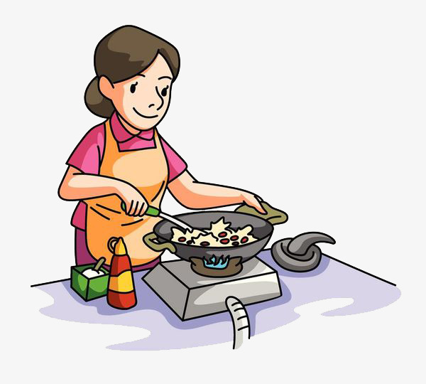 Cook clipart. The mother who is