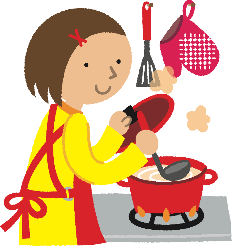 Cook clipart. Woman cooking medium image