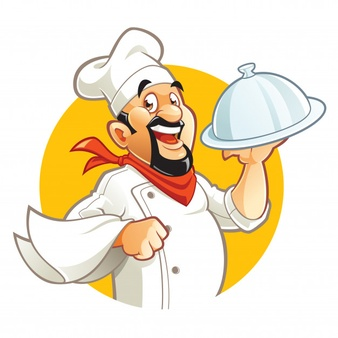 Cook clipart. Cilpart trendy chef cooking clipart royalty free