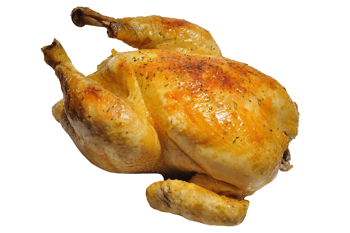 Cooked chicken png. Roasted whole transparent stickpng