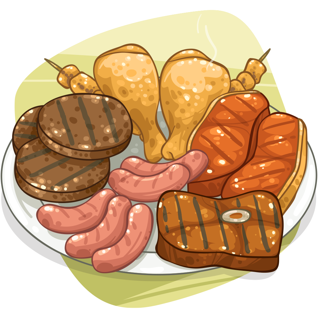 Cooked clipart cooked meat. Item detail itembrowser cooking