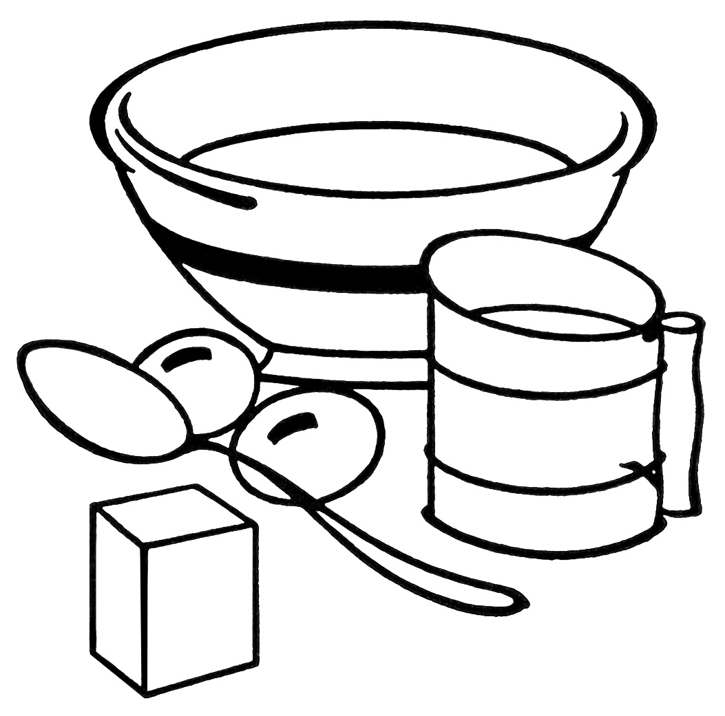 Cooked clipart mix food. Baking equipment clip art