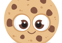 Cookie cartoon png. Cookies clipart cute borders