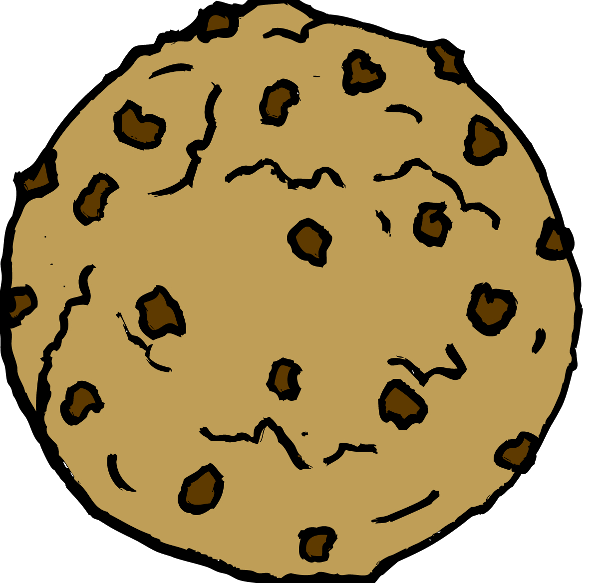 Cookie clipart. Chocolate chip cilpart nice