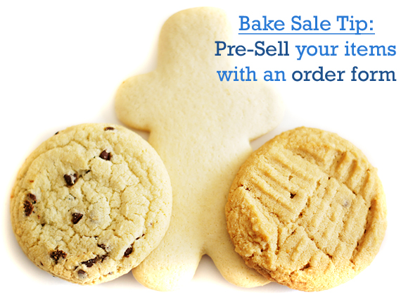 Cookie clipart bake sale item. Order form flyers free