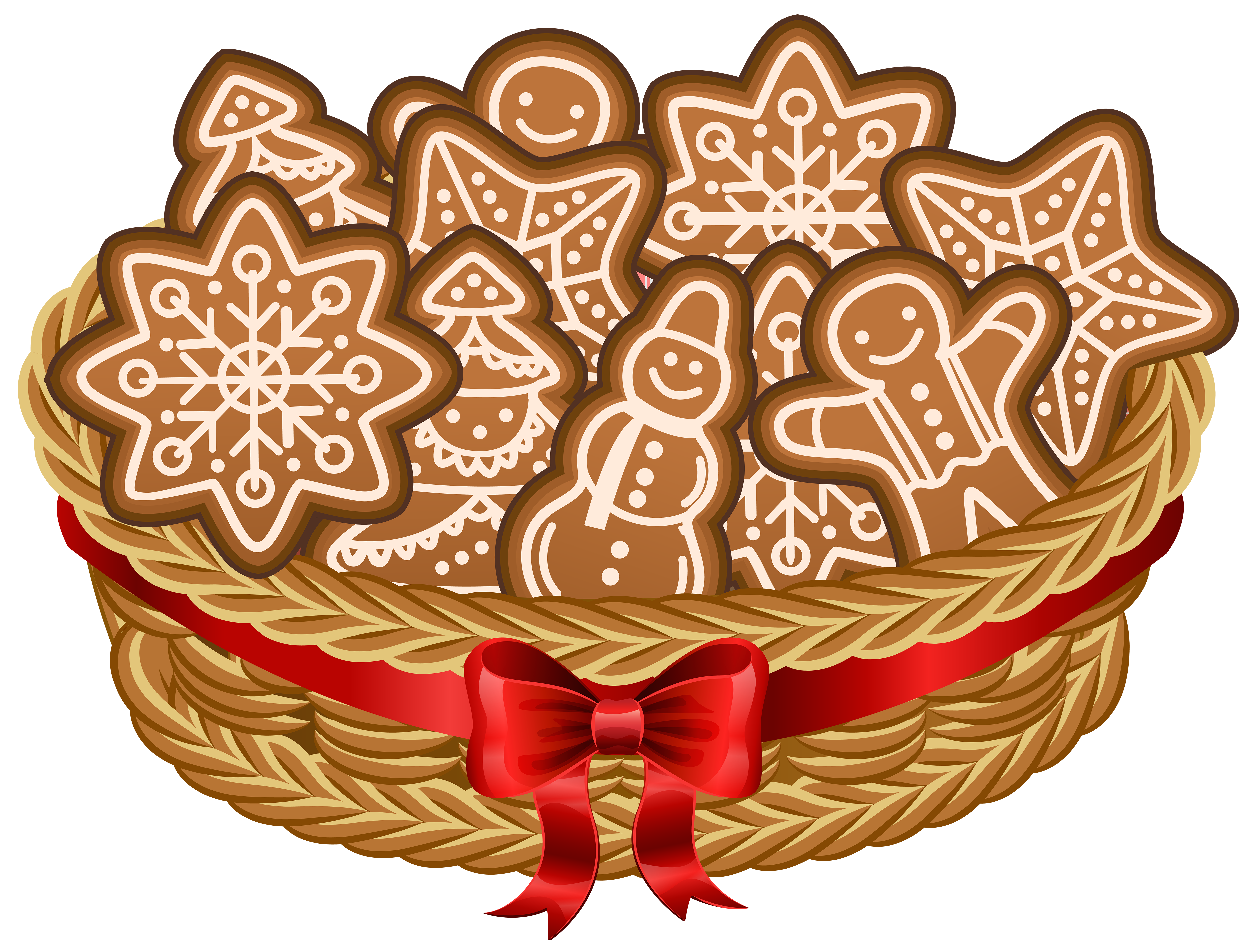 Cookie clipart basket cookie. Christmas with gingerbread cookies