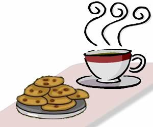 Cookie clipart coffee. Cookies and crantock village
