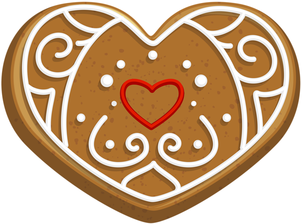 Cookie clipart heart. Gingerbread png clip art