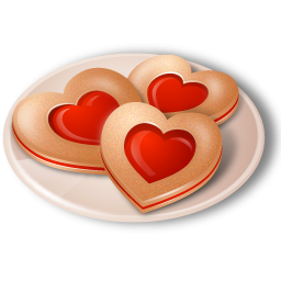 Cookie clipart heart. Cookies icon png image