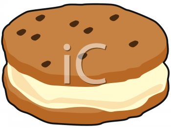 Cookie clipart ice cream sandwich. Picture of a chocolate