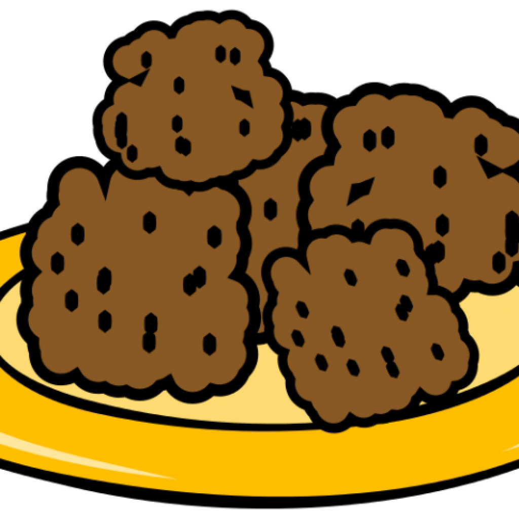 Cookie clipart illustration. Plate of cookies free