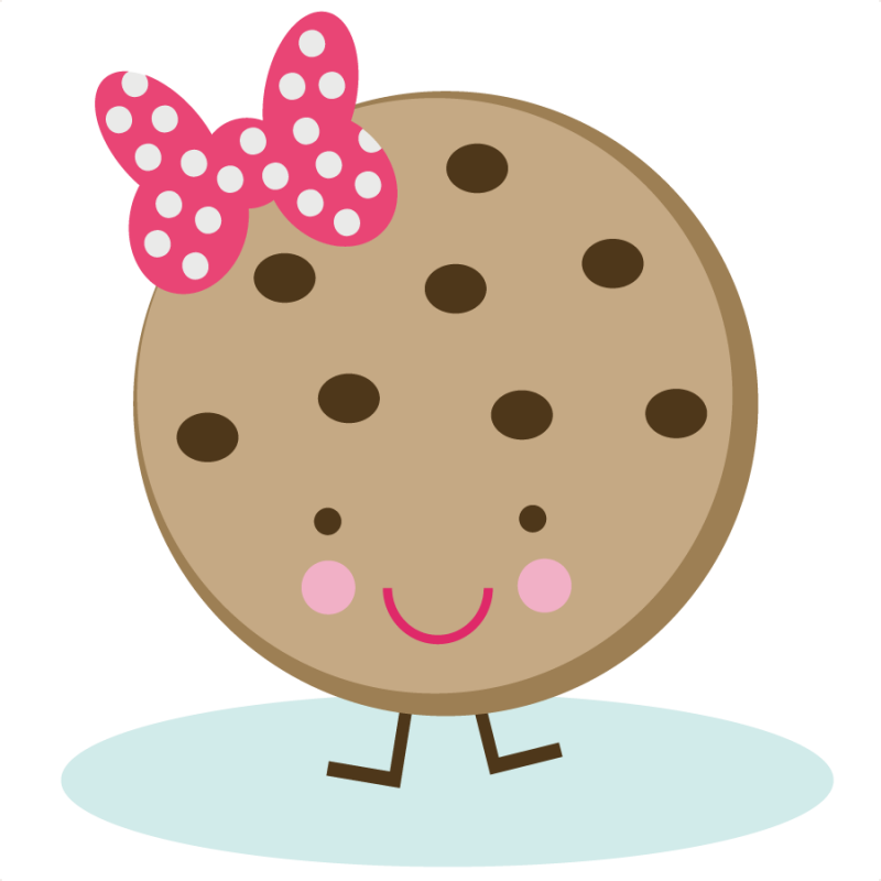 Cookie clipart kawaii. Cute svg file for
