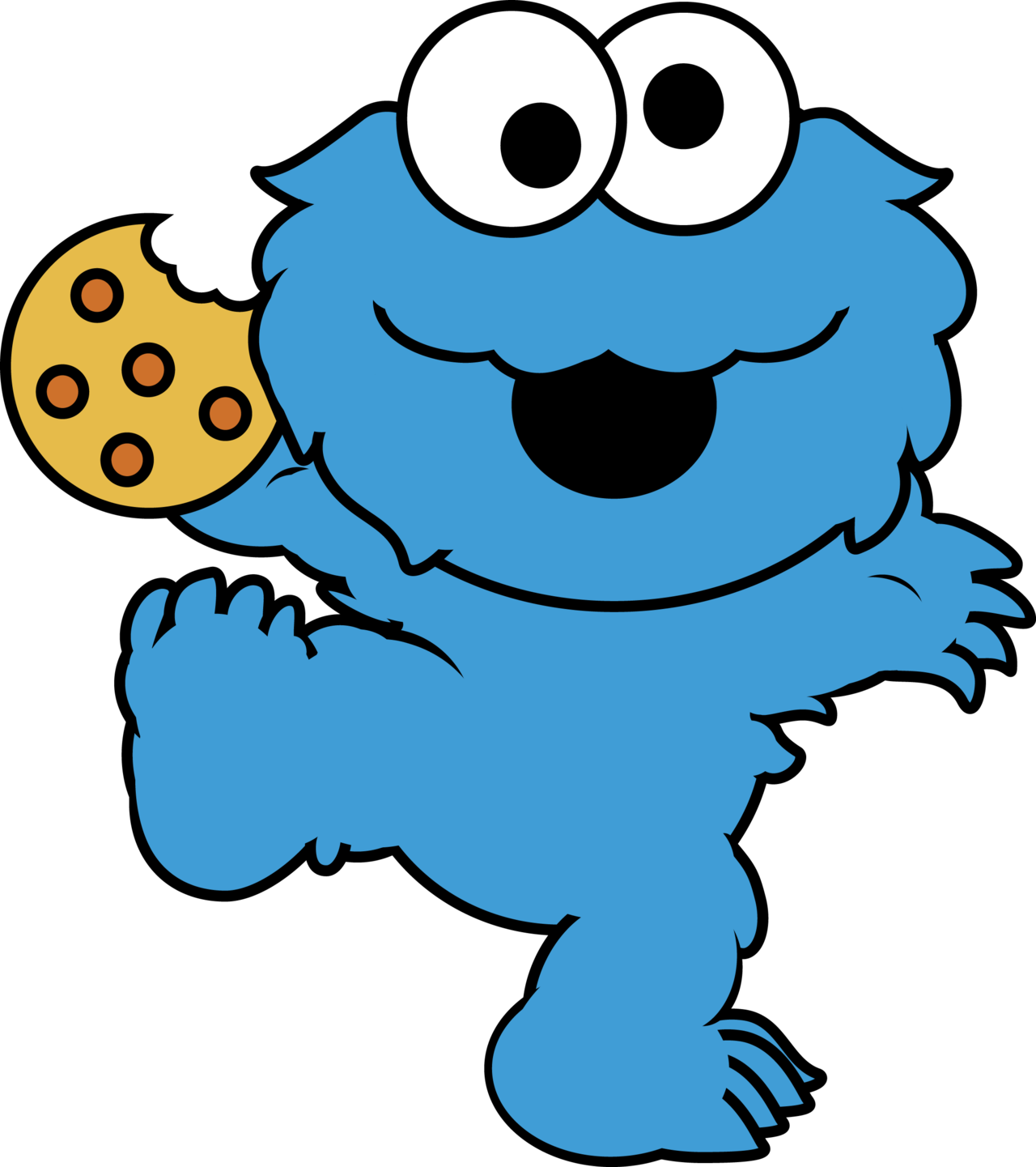 Cookie clipart monster. Free eating cookies cliparts