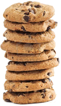 Cookie clipart stack. Chocolate chip png images