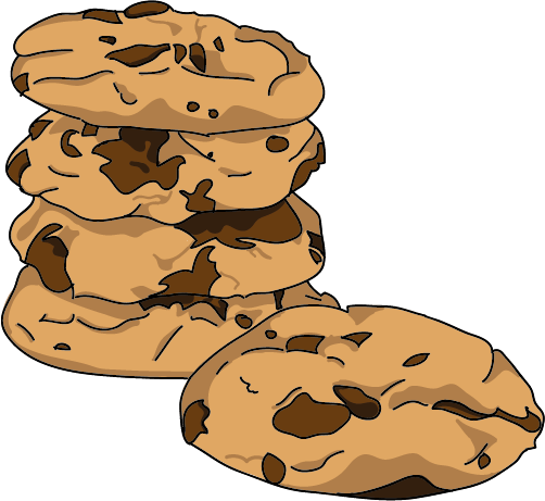 Cookie clipart stack. My chocolate chip cookies