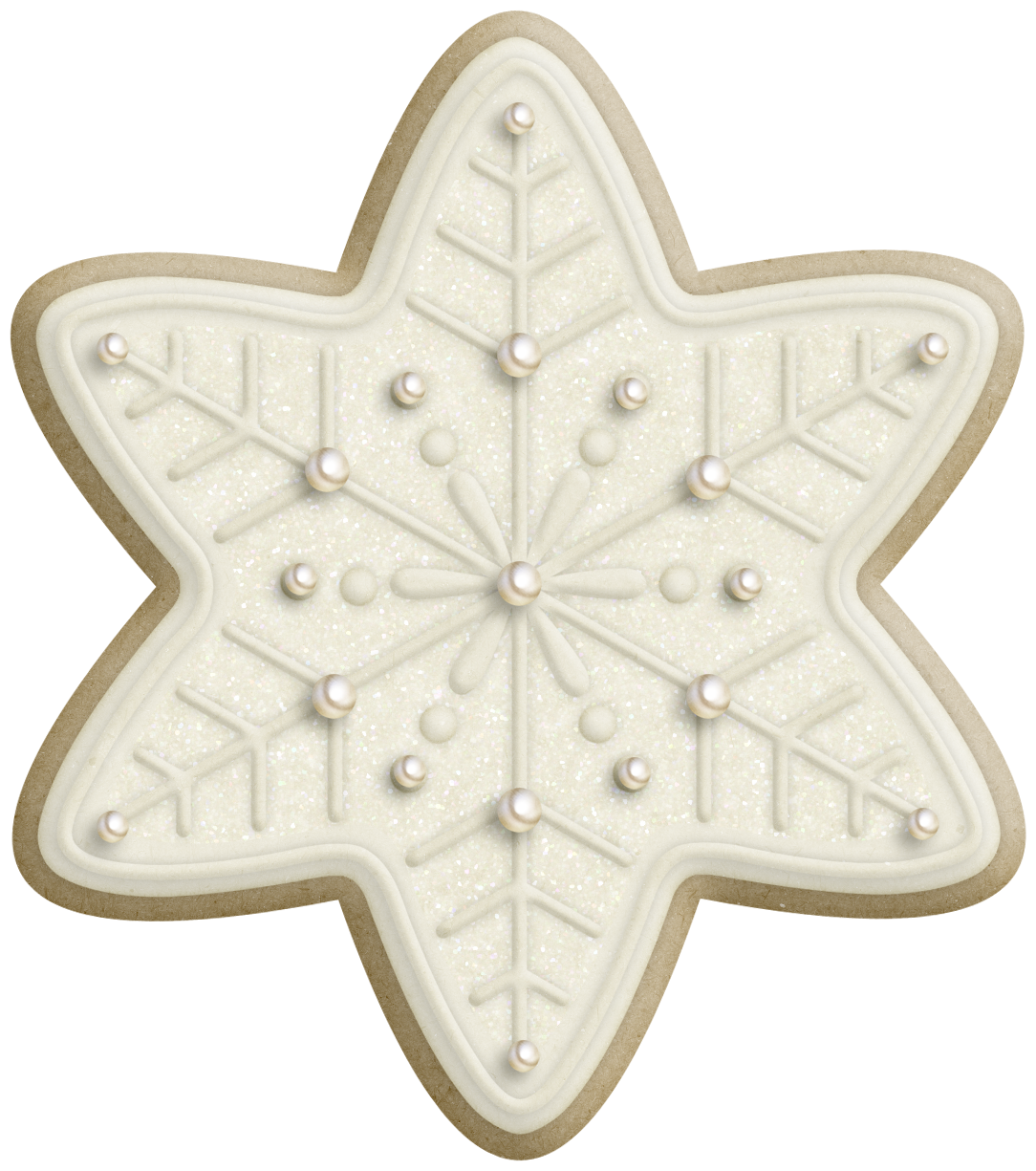 Cookie clipart vector. Fancy snowflake cookies graphic