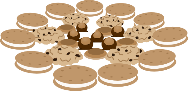 Cookie clipart vector. Cookies logo free