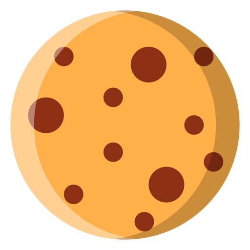 Packaging vector cookie. Chocolate chip icon transparent