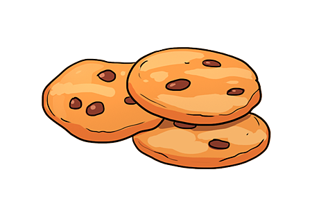 Cookie illustration png. Single word requests what