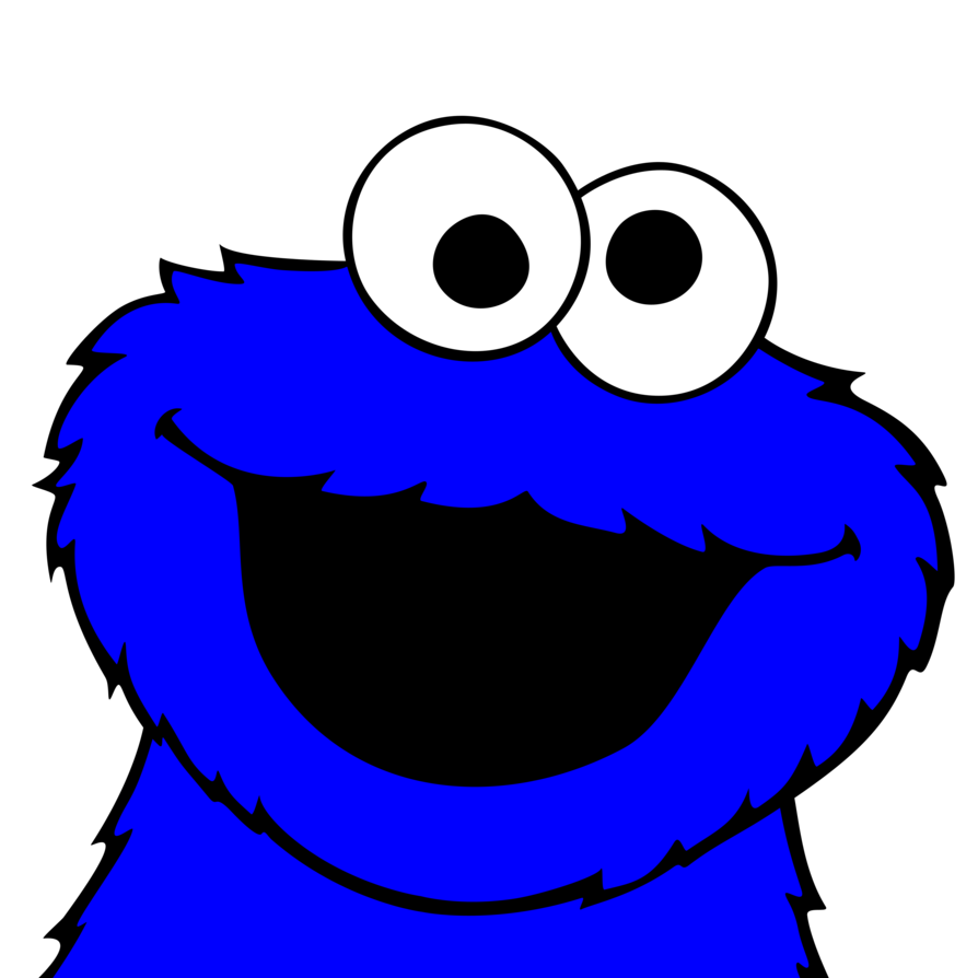 Vector monsters art. Cookie monster pictures by