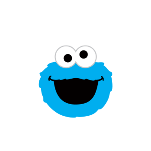Cookie monster face png. Style b