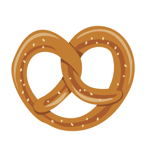 Cookies vector png. Oktoberfest pretzel cookie illustration