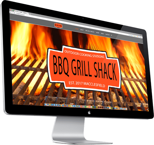 Cooking transparent backlit. Bbq grill shack custom