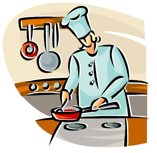 Cooking transparent cartoon. Collection of free cooing
