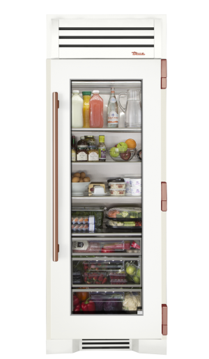 fridge transparent glass front