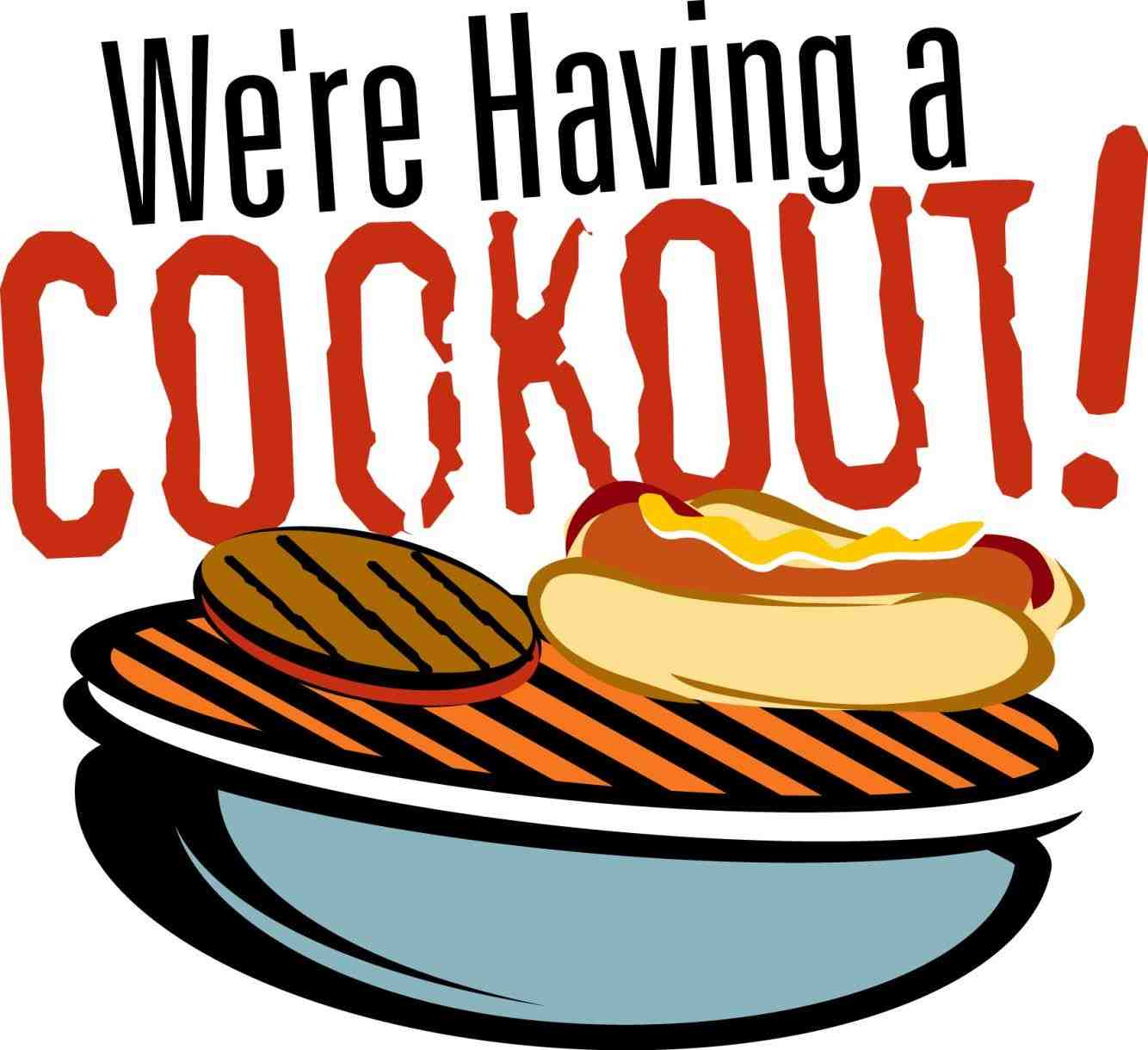 Cookout clipart black family. Bbq and white istiqomah