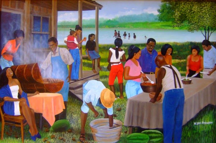 Cookout clipart black family. Africian american clipartfest artful